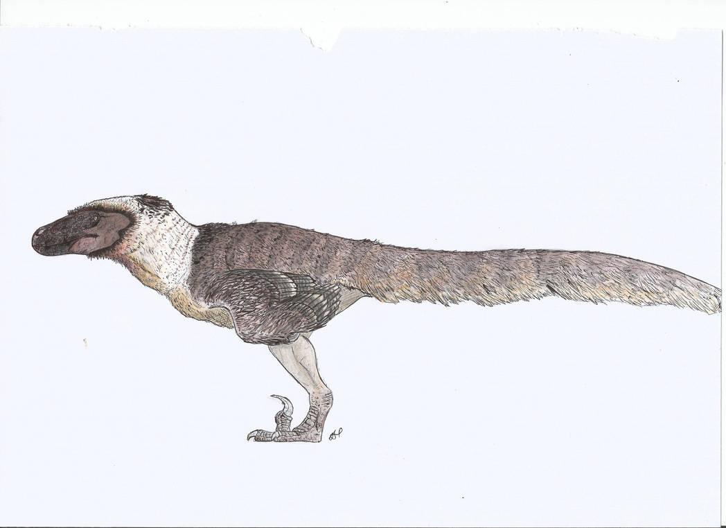 Black-Faced Utahraptor by PhanerozoicWild