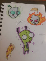 Gir doodles by KittyLoverMEWMEW