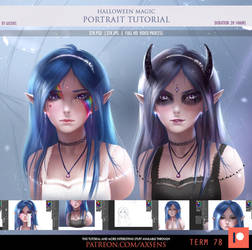Halloween Magic Portrait Tutorial by Axsens