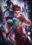 Older Vanellope and Ralph by Axsens