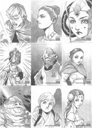 Another Star Wars Sketch Cards by 2ngaw