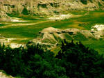 Rocky Hills and Greenery by golddew