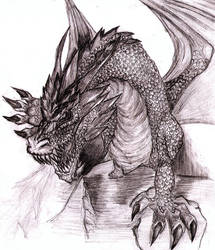 My first Deviation, a Dragon by artzumy