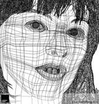 Milla Jovovich Outline by VisionHaus