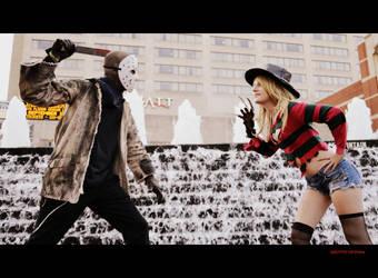 Fem Freddy Krueger: Freddy vs. Jason by HarleyTheSirenxoxo