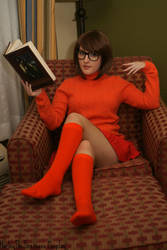 Velma Dinkley: Book In Hand by HarleyTheSirenxoxo