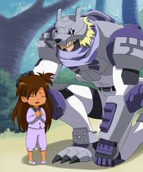 PPCom - Digimon - OC Max and Lobomon by Venera-Taro