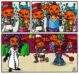 Katziinated Shorts: Hallowe'en Antics by KatziiYataki