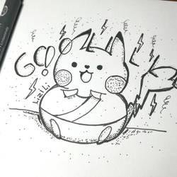 Golll Pikachu peruano by Lii07