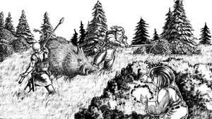 Boar Attack by FilKearney
