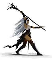 Pathfinder - Feiya the Witch Study by FilKearney