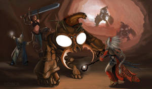 Pathfinder - Adventurers Vs. Aberration by FilKearney