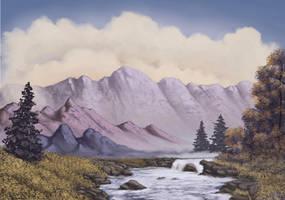 Bubbling Mountain Brook by FilKearney