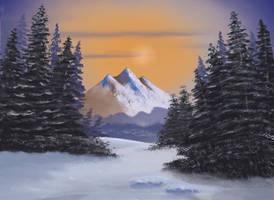 Winter Evergreens by FilKearney