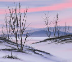 Winter Badlands by FilKearney