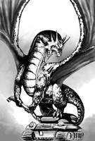 Dragon vs tank by FilKearney