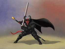 Lucien - Tiefling Warlock by FilKearney