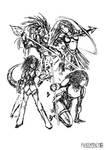 Archer Spears and Saurun by FilKearney