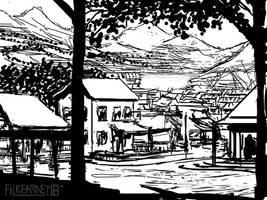 Rustic Township - sketch by FilKearney