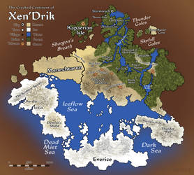 Eberras - cracked Continent of Xen'Drik by FilKearney