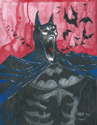 Vampire Batman by twistedmentality