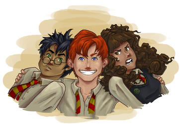 The Golden Trio by Azhren