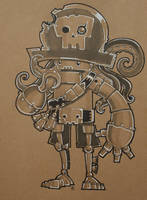 MCM Preview, Captain Squid For a Brain Robot by SpaceCowSmith