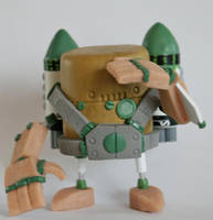 MCM Preview, White Tribe Rusty Robot by SpaceCowSmith