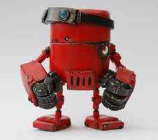 MCM Show Special Red Tribe Rusty Robot by SpaceCowSmith