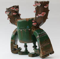 MCM Show Special Green Tribe Rusty Robot by SpaceCowSmith