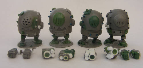 Black Tribe Minion Sculpts by SpaceCowSmith