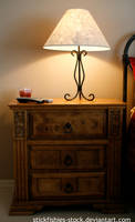 Night Stand and Lamp 1 by Stickfishies-Stock