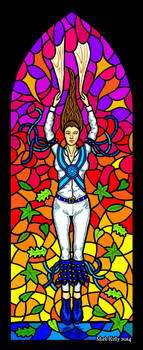 Dance On Glass: Stained Glass Morris Dancing by yggdryad