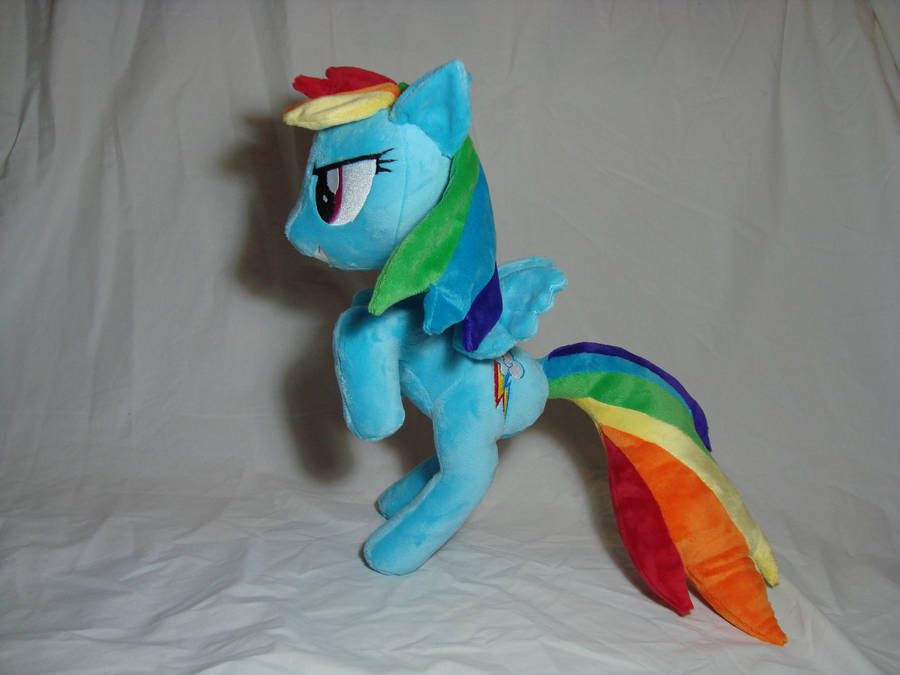 Rainbow Dash standing plush by PlanetPlush