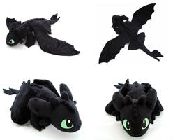 Toothless/Night Fury by PlanetPlush