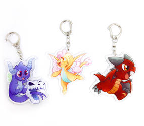 Dreggons Acrylic Charms by PlanetPlush