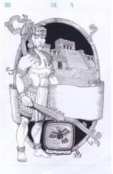 Mayan Eagle Knight / Caballero Aguila Maya by danielvaladez