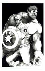Captain America and Hulk by danielvaladez