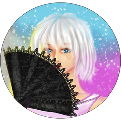 Girl with fan by EmanNabil