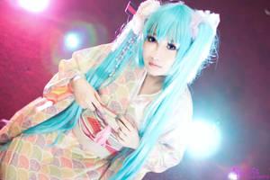 hatsune miku kimono ver by keykoangel
