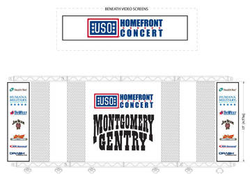 USO Homefront Concert Banners by gotdesign