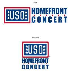 USO Homefront Concert logos by gotdesign