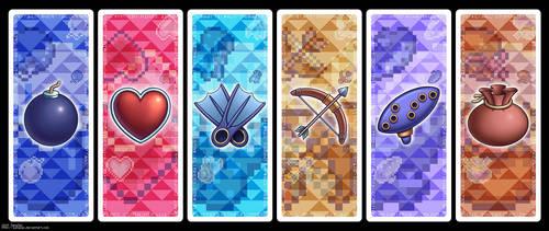 Legend of Zelda Bookmark Set by zanazac