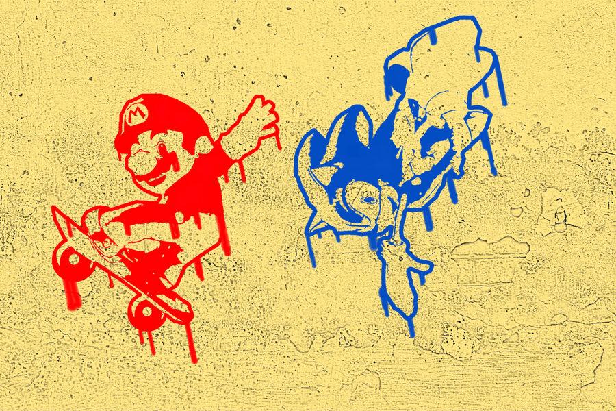 Mario + Sonic an the X-Games by SuperAshBro