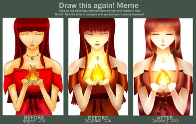 Draw This Again: Cradling Flames by Tishawish