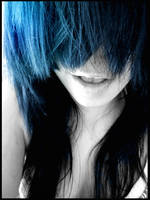 blue hair by Fuckish