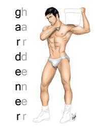 Male Pinup Art - Garderner by eddiechin