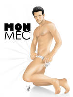 Sexy Male Pinup Art - Mon Mec by eddiechin