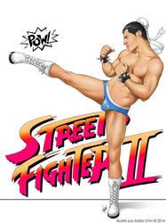 Male Pinup Street Fighter Chun Thai by eddiechin