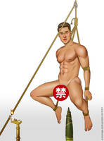 Male Pinup Bondage - Safe Him If You Can by eddiechin